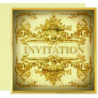 Invitación barroca ornamental del fiesta