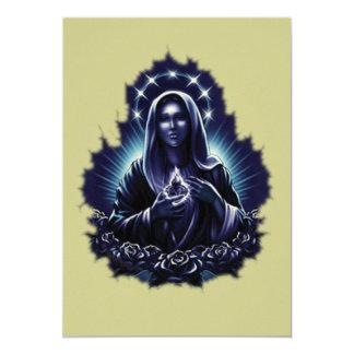 Invitación bendecida púrpura del Virgen María Invitación 12,7 X 17,8 Cm