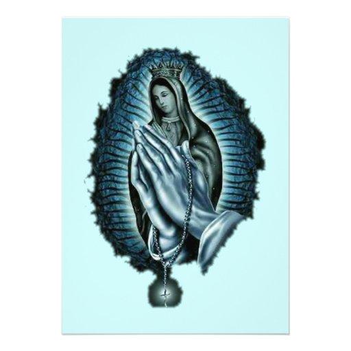 Invitación bendecida rezo púrpura del Virgen María