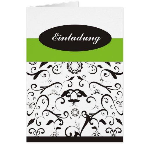 Invitación - black coral lindgrün tarjetas