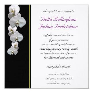 Invitación blanca 5.25x5.25 del boda de la