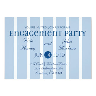 Invitación blanca azul elegante del fiesta de