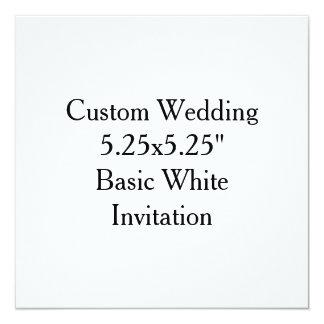 """"""" Invitación blanca básica 5.25x5.25 que se casa"""