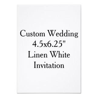 """"""" Invitación blanca de lino 4.5x6.25 que se casa"""
