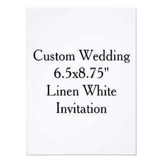 """"""" Invitación blanca de lino 6.5x8.75 que se casa"""
