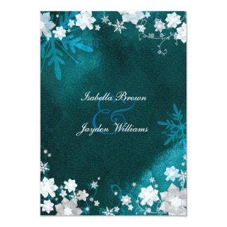Invitación blanca del boda de Bling del invierno