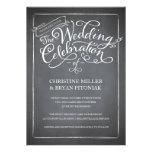 Invitación blanca del boda de la escritura de la p