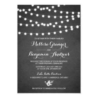 Invitación blanca del boda de la pizarra de las