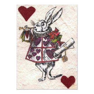 Invitación blanca del boda del conejo