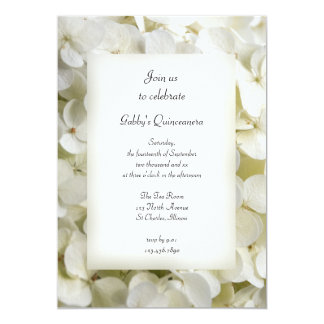Invitación blanca del fiesta de Quinceanera del