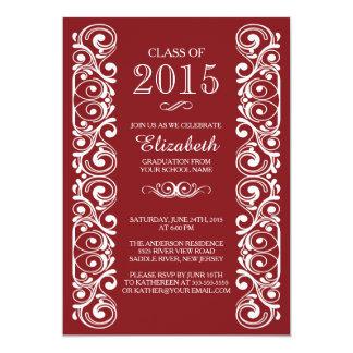 Invitación blanca marrón elegante de la fiesta de