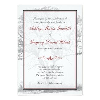 Invitación blanca negra elegante del boda del
