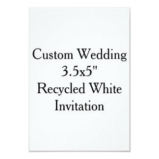 """"""" Invitación blanca reciclada 3.5x5 que se casa de"""