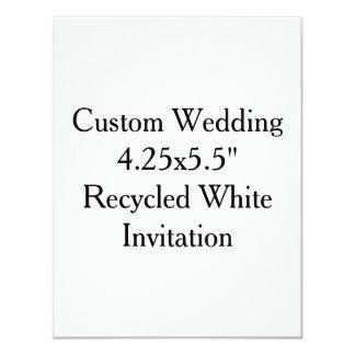 """"""" Invitación blanca reciclada 4.25x5.5 que se casa"""