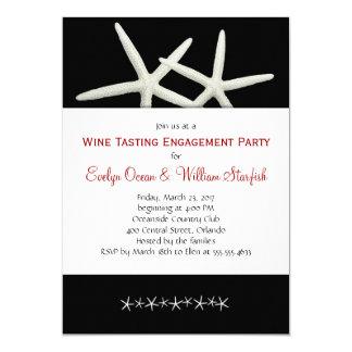 Invitación blanco y negro de la ducha del boda de invitación 12,7 x 17,8 cm