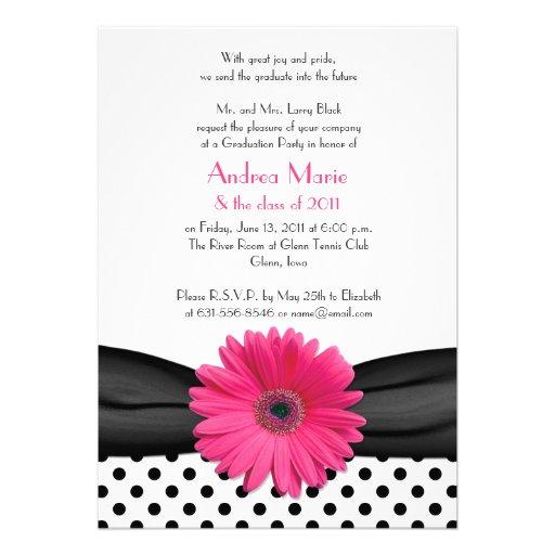 Black and White Polka Dot Invitation