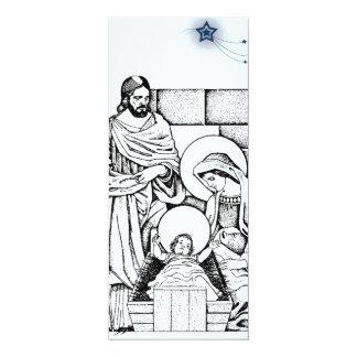 Invitación blanco y negro de la natividad