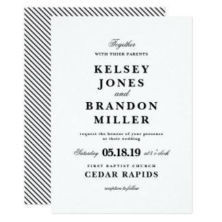Invitación blanco y negro del boda