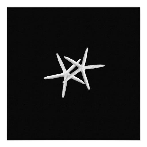 Invitación blanco y negro del boda de las estrella