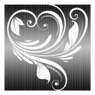 Invitación blanco y negro del boda del corazón de