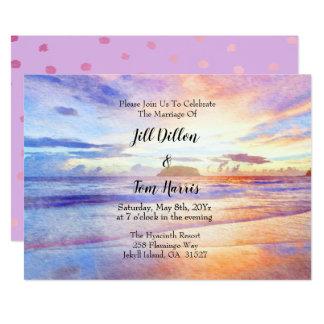 Invitación Boda de la salida del sol de la playa de la