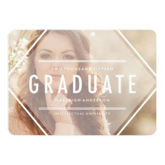 Invitación bohemia de la graduación de la foto del