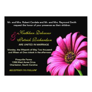 Invitación bonita del boda de la flor de la