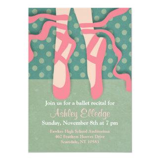 Invitación bonita del decreto del ballet