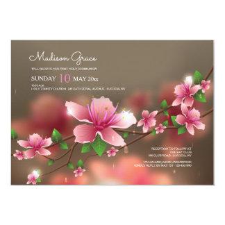Invitación borrosa de los flores