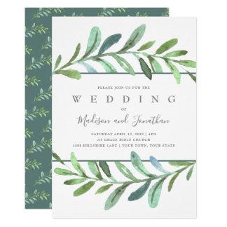 Tarjeta Invitación botánica del boda de las vides modernas