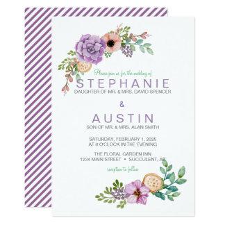 Tarjeta Invitación botánica suculenta del boda de la