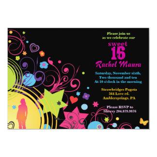 Invitación brillante 16 del dulce dieciséis del