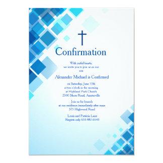 Invitación brillante de la confirmación de los