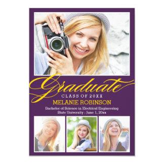 Invitación brillante de la graduación del