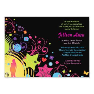 Invitación brillante de Mitzvah del palo del PODER