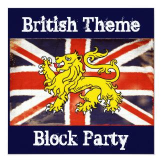 Invitación británica de la fiesta de barrio de invitación 13,3 cm x 13,3cm