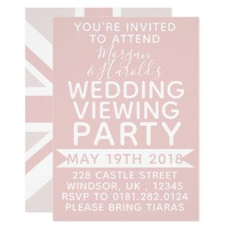 Invitación BRITÁNICA del banquete de boda de la
