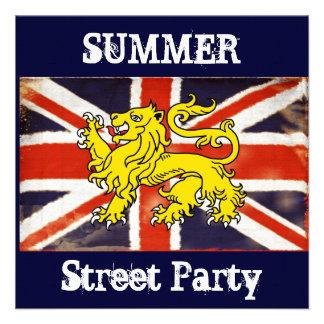 Invitación británica del fiesta de Stree del veran