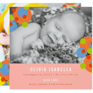 Invitación burbujeante del nacimiento de la foto