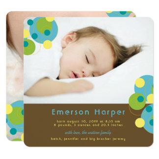 Invitación burbujeante del nacimiento del bebé de invitación 13,3 cm x 13,3cm