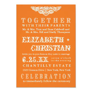 Invitación-calabaza del boda de Bill del teatro Invitación 12,7 X 17,8 Cm