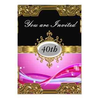 Invitación caliente de cumpleaños del encanto invitación 12,7 x 17,8 cm
