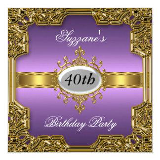 Invitación caliente de cumpleaños del encanto