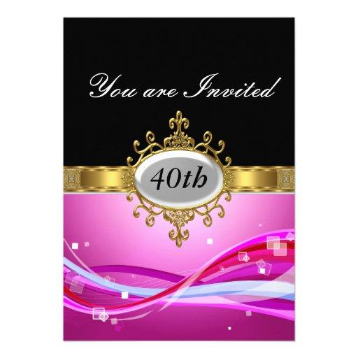 Invitación caliente de cumpleaños del encanto negr