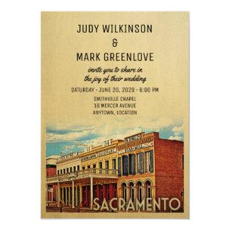 Invitación California del boda de Sacramento