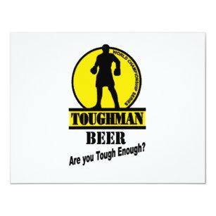 Invitación Camisa de la cerveza de Toughman