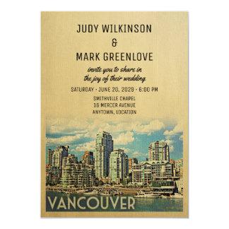 Invitación Canadá del boda de Vancouver