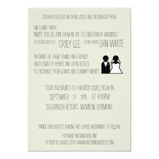 Invitación caprichosa del boda