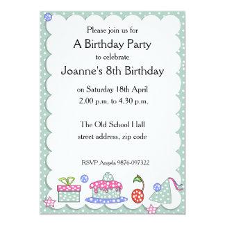 Invitación caprichosa del cumpleaños del niño invitación 12,7 x 17,8 cm