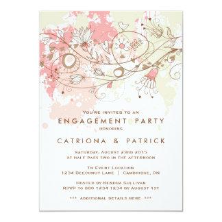 Invitación caprichosa del fiesta de compromiso de